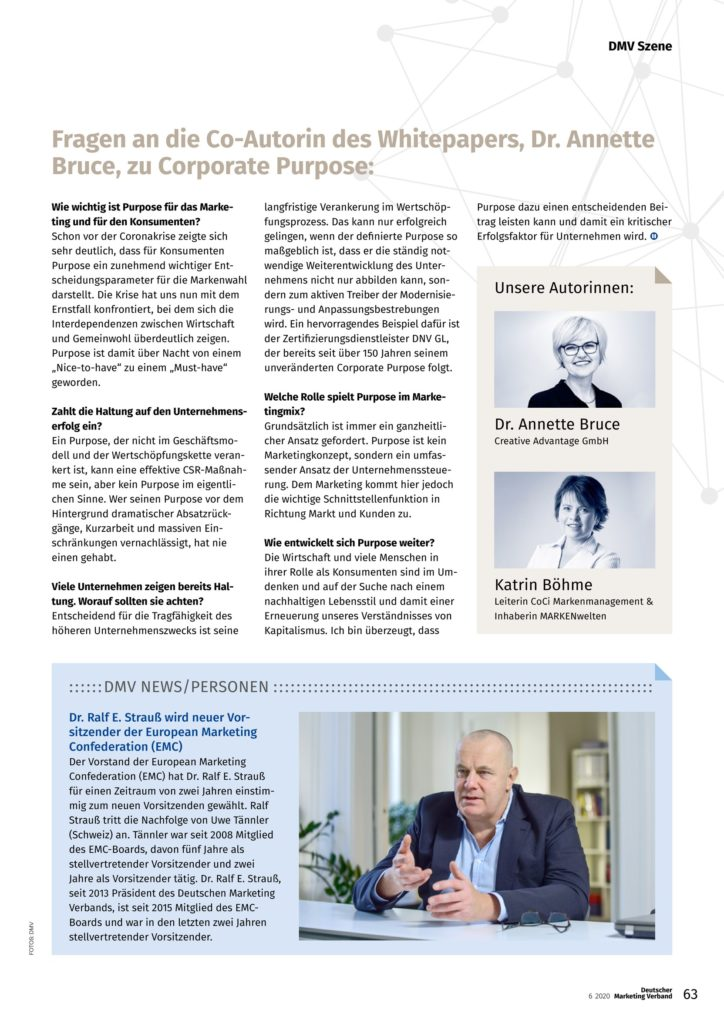 Interview Annette Bruce, Corporate Purpose, Absatzwirtschaft