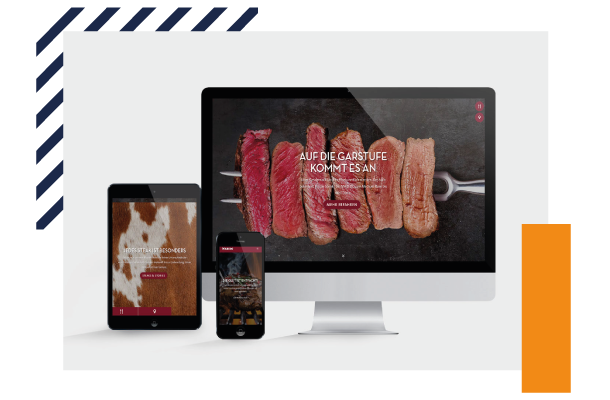 "Web design of the ""MAREDO"" brand on desktop, tablet and smartphone"